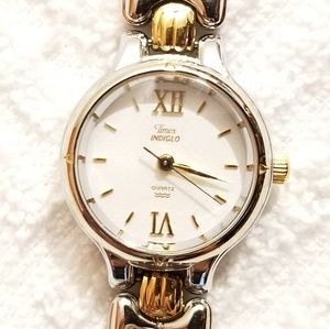 Timex Two Tone Ladies Quartz Watch Roman Numerals